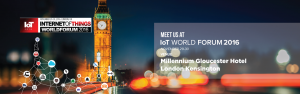 Meet us at Internet of Things World Forum 2016 - please come and say hello